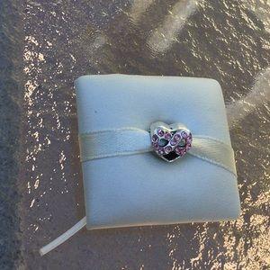 Infinity charm with CZ stones work with Pandora